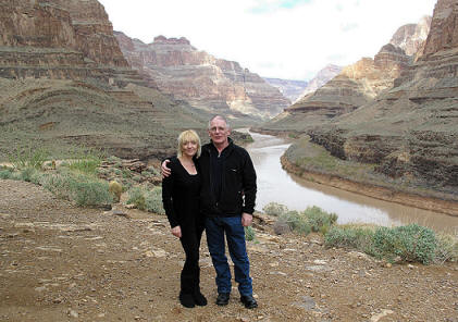 Marilyn and John in The Grand Canyon