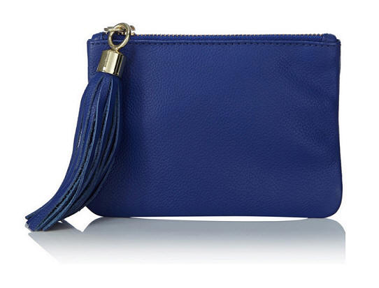 Oasis Leather Zip Top Purse