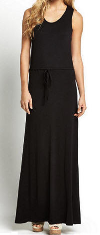 South Petite Channel Maxi Dress in black