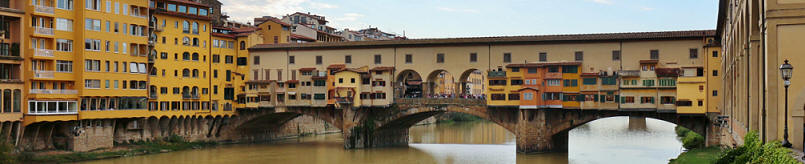 view of Ponte Vecchio from north bank