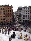 view from Spanish Steps Rome