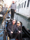 The Fiance, Marilyn & Uncle Fester in a gondola