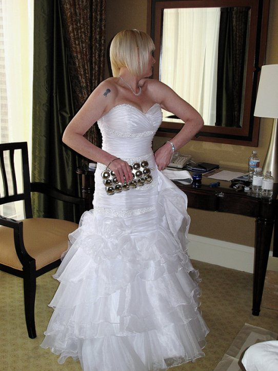 Watch our las vegas wedding with elvis on youtube for Las vegas wedding dress