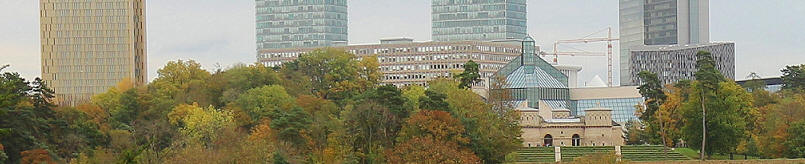 Fort Thungen and the Plateau de Kirchberg skyscrapers