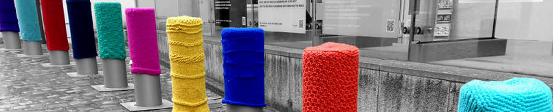 knitted bollard covers
