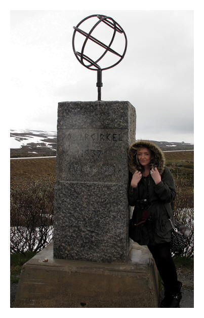 this is me in the Arctic Circle