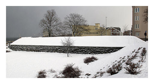 the Old Town Wall covered in pristine snow