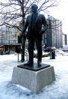 statue of Johan Nygaardsvold the Prime Minister of Norway from 1935 to 1945 in Krambuveita