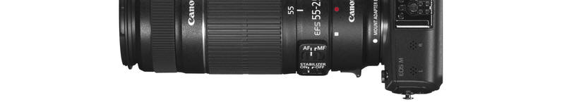 Canon EOS M with EFS 55-250mm lense