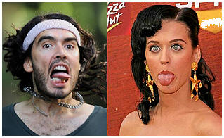 seperated at birth - Russell Brand and Katy Perry?