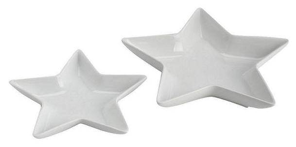 Matalan Pack Of 2 Star Serving Platters