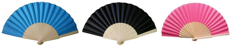 Wooden & Fabric Hand Fans